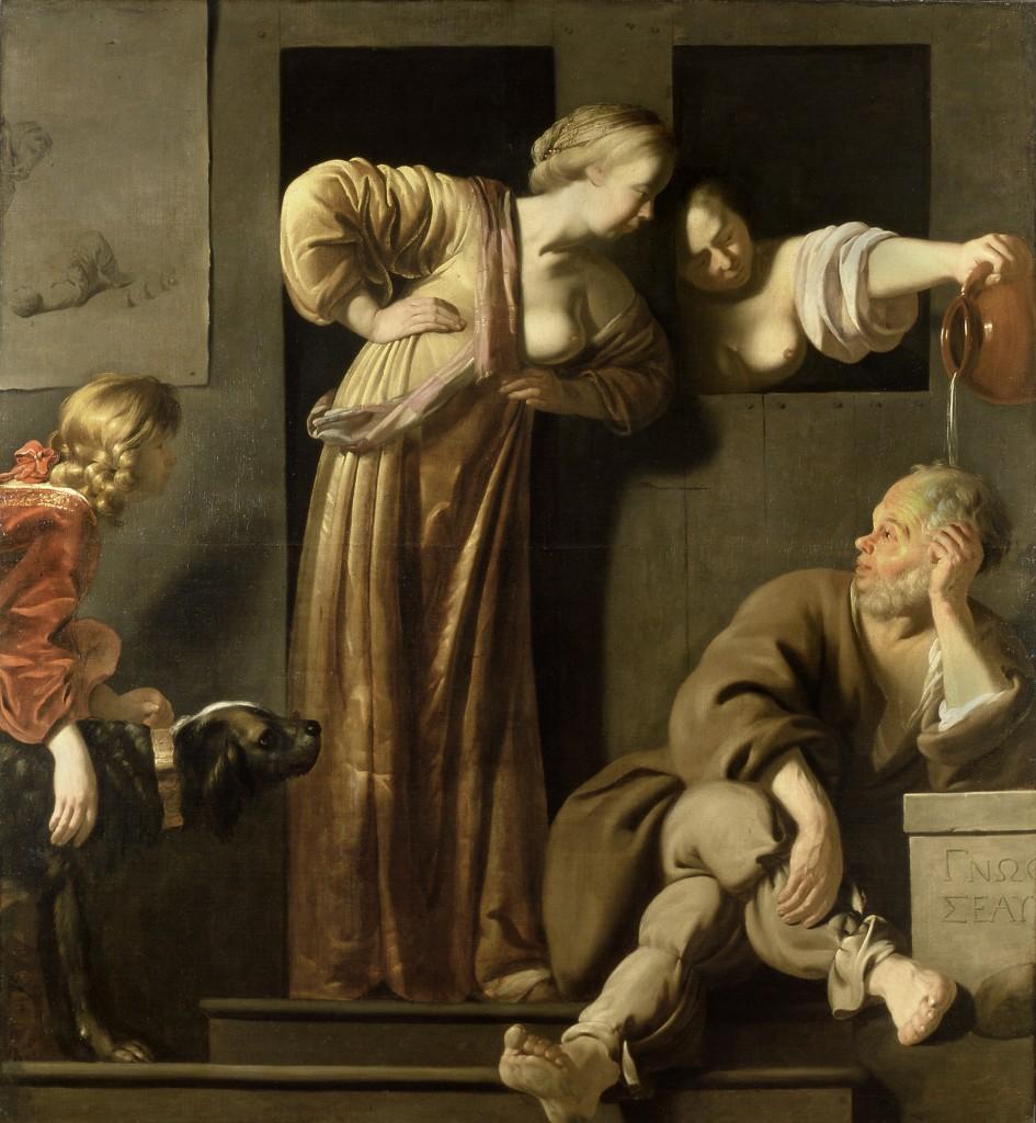 Reyer Jacobsz van Blommendael, Socrate ses deux +®pouses et Alcibiade 300dpi