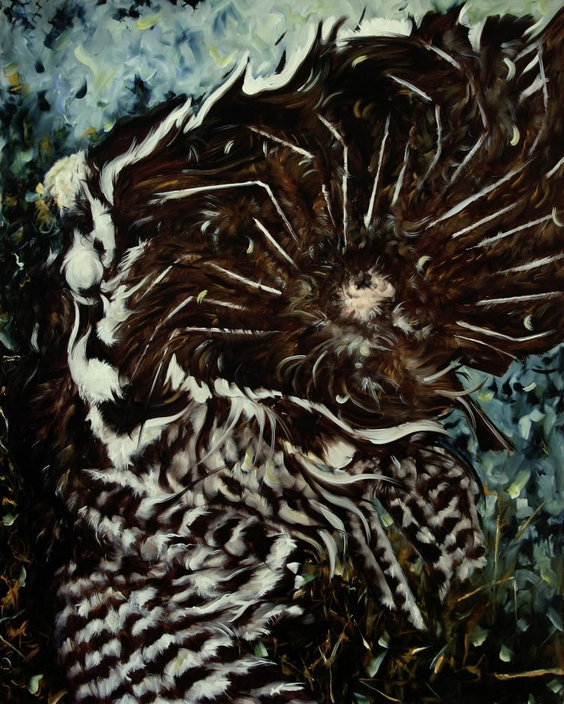 aj_Le Dindon_2008_huile sur toile_162 x 130 cm