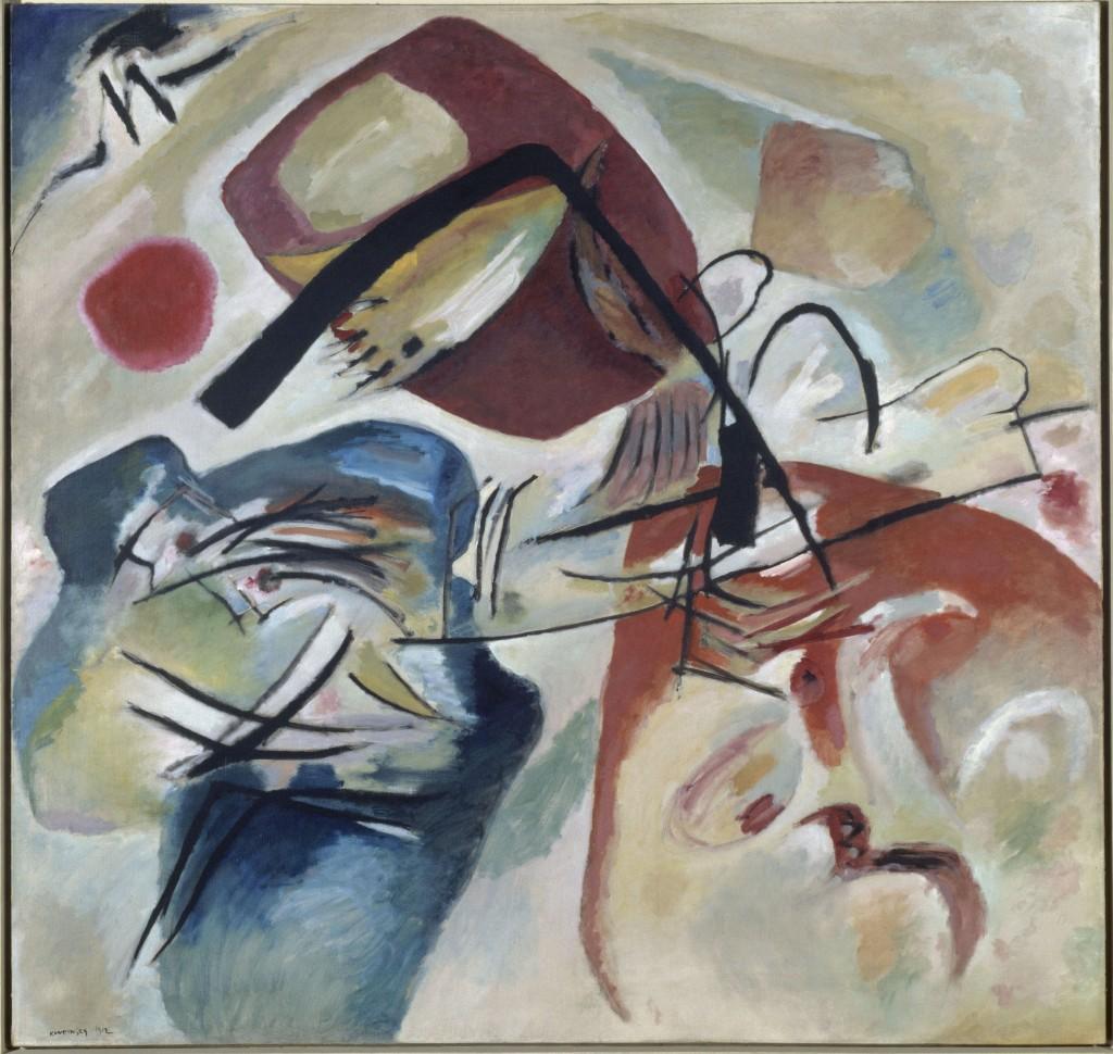 Vassily Kandinsky Mit dem schwarzen Bogen 1912 Collection Centre Pompidou