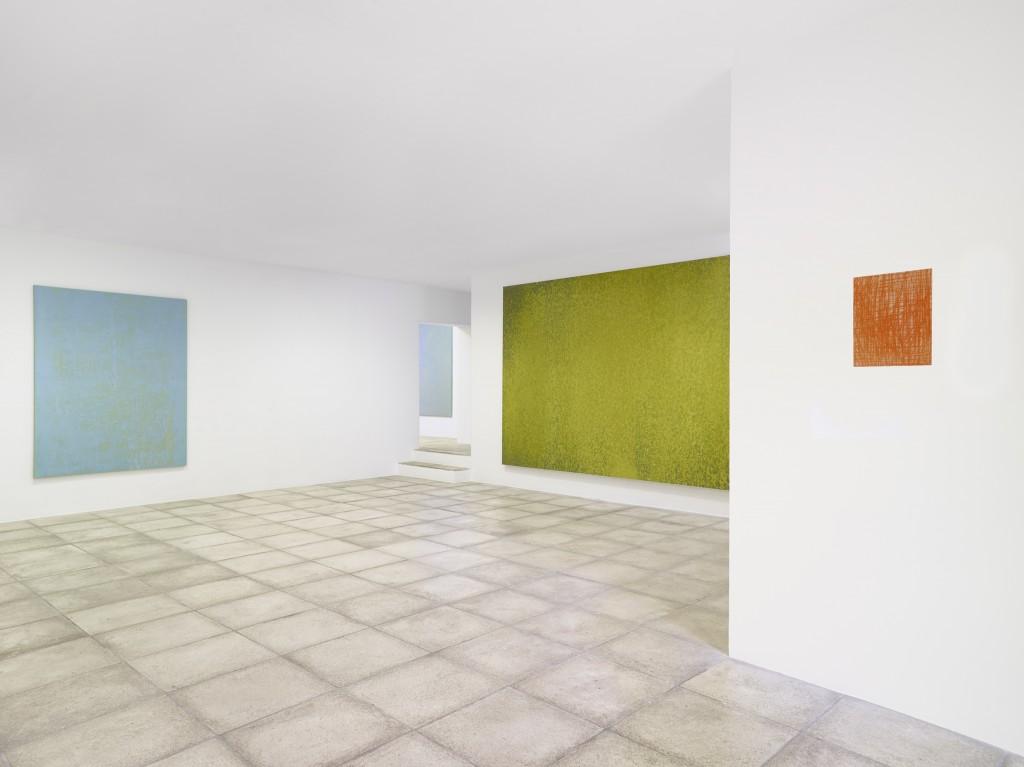 """Gérard Traquandi en regard à Hans Hartung  """"À double détente""""  vue exposition Galerie Catherine Issert 2016"""