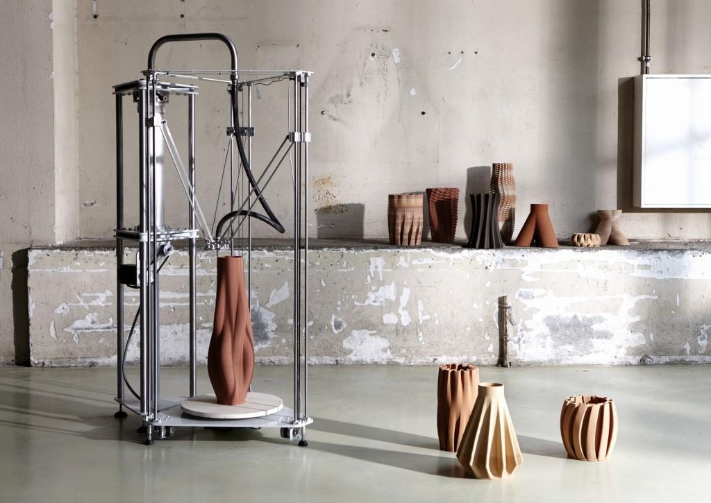 Imprimer le monde Olivier Van Herpt Sediment Vases 2015 2016 Design Academy Eindhoven Photo Femke Rijerman